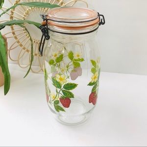 Vintage | Arc Strawberry Jar Canisters